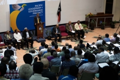 HE Bruce Davis, Australian High Commissioner to PNG, launched the new master's program at UPNG.