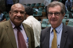 Department of Personnel Management Secretary, Mr John Kali, and Australian High Commissioner to PNG, HE Bruce Davis.